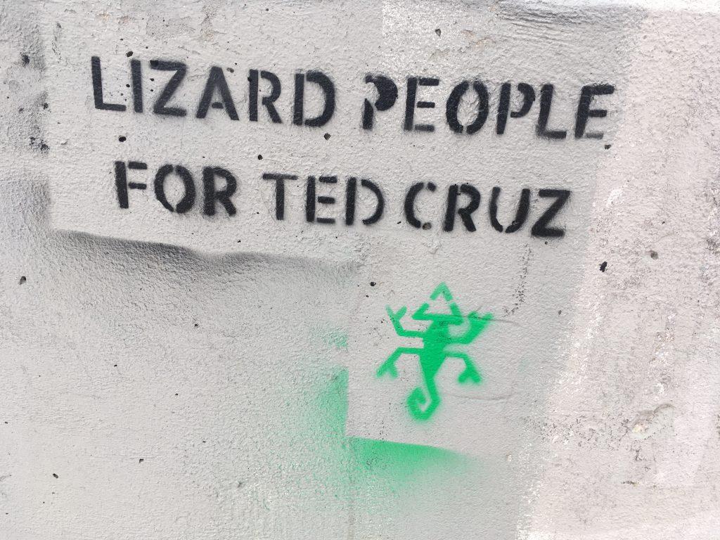 Texas Walkampf Lizard People Ted Cruz